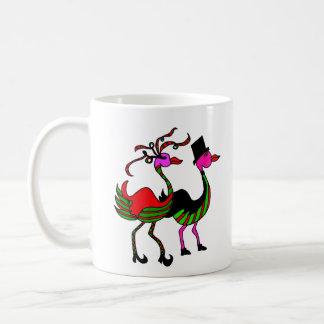 Christmas Flamingo Party Pair Coffee Mug