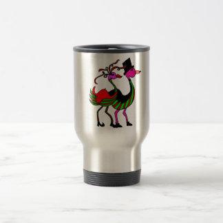 Christmas Flamingo Party Pair Coffee Mugs