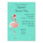 Christmas Flamingo Side Multi back invitation