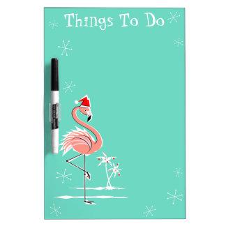 Christmas Flamingo Things To Do dry erase board