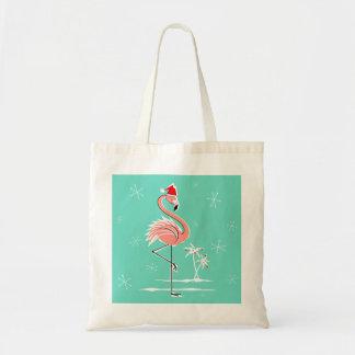 Christmas Flamingo tote bag