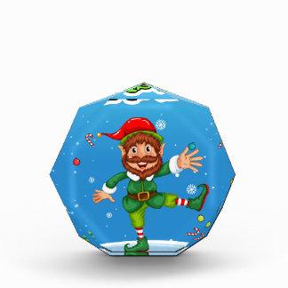 Christmas flashcard with Santa and ornaments Award