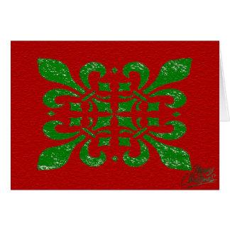 Christmas Fleur De Lis Card