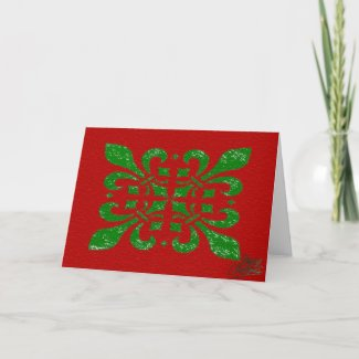 Christmas Fleur De Lis Holiday Card
