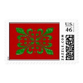 Christmas Fleur De Lis stamp