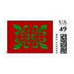 Christmas Fleur De Lis Postage Stamps