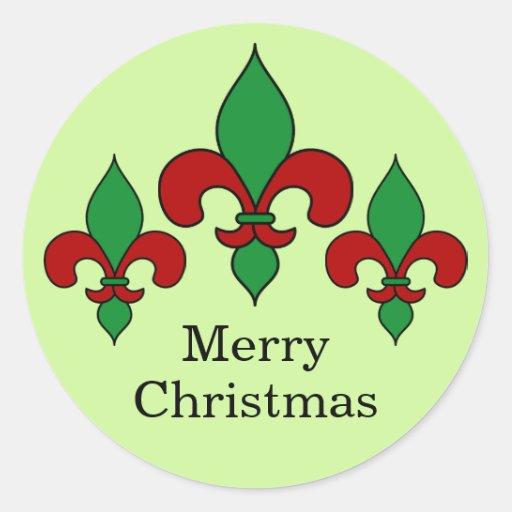 Christmas fleur de lis stickers zazzle