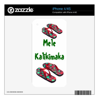 Christmas Flip Flops Skin For iPhone 4