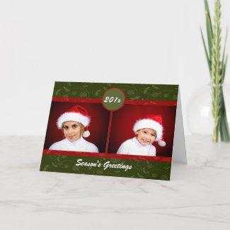 Christmas Floral Card card