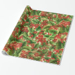 "Christmas Floral Holiday wrapping paper<br><div class=""desc"">design by Darq Illusions</div>"