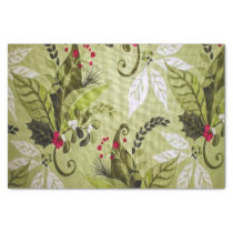 Christmas floral pattern tissue paper