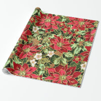 Christmas Floral pattern wrapping paper