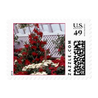 'Christmas Floral' postcard stamp