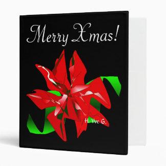 Christmas Flower Binder In Black