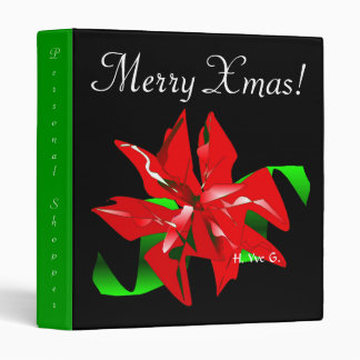 Christmas Flower Binder In Black And Green I