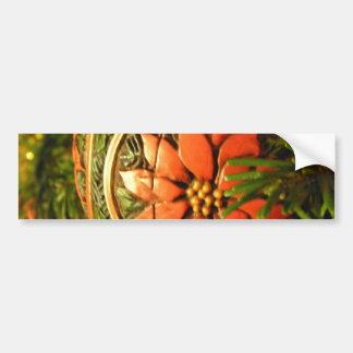 Christmas Flower Bumper Sticker