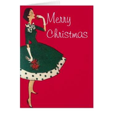 Christmas Themed Christmas Flower Card
