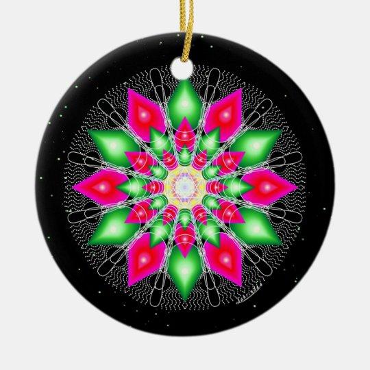 Christmas Flower Ceramic Ornament