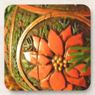 Christmas Flower Coaster