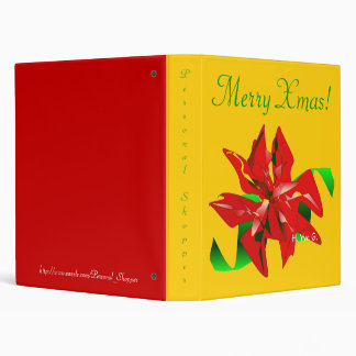 Christmas Flower In Gold And Red I Binder