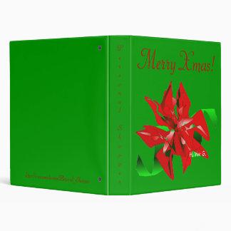 Christmas Flower In Green I Binder
