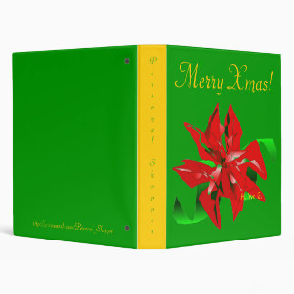 Christmas Flower In Green VII Binder