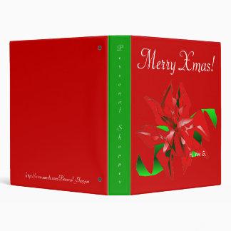 Christmas Flower In Red III 3 Ring Binder