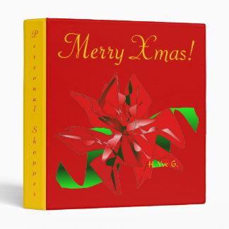 Christmas Flower In Red VII Binder