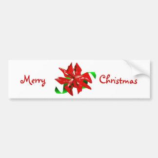 Christmas Flower Red Bumper Sticker Car Bumper Sticker