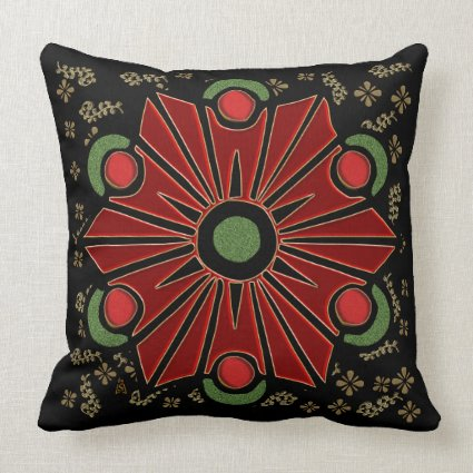 Christmas Flower (Square Accent Pillow)