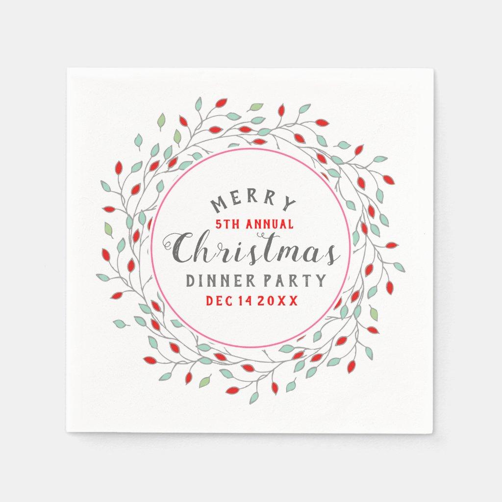 Christmas Flowers Wreath Christmas Typography