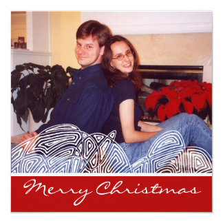 Christmas Flurry 5.25x5.25 Square Paper Invitation Card