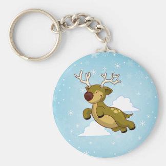 Christmas Flying Reindeer Keychain