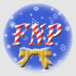 CHRISTMAS FNP - FAMILY NURSE PRACTITIONER STICKERS