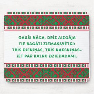 Christmas Folk Song I Latviešu Tautasdziesma Mouse Pad