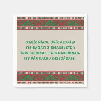 Christmas Folk Song I Latviesu Tautasdziesma Napkin