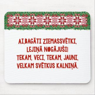 Christmas Folk Song II Latviešu Tautasdziesma Mouse Pad