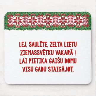 Christmas Folk Song III Latviešu Tautasdziesma Mouse Pad