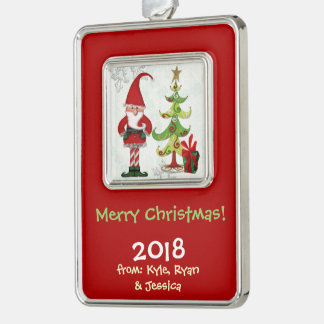 Christmas Folk Whimsey FAMILY PERSONALIZED Ornament