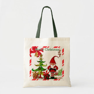Christmas Folk Whimsey GIFT Tote Bag