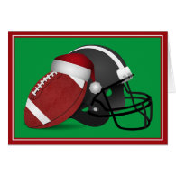 Christmas Football And Helmet Card