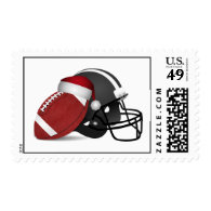 Christmas Football And Helmet Postage