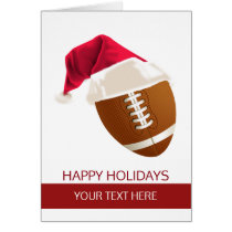 Christmas football Ball Santa Hat Greeting Cards