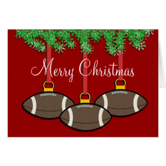 Christmas Football Card