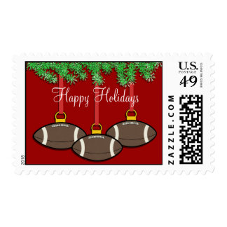 Christmas Football Postage Stamps