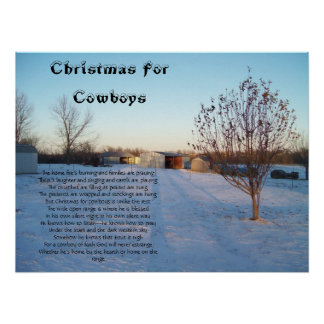 Christmas For Cowboys Print