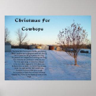 Christmas For Cowboys Poster