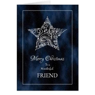 Christmas for Friend Card / Christmas Star