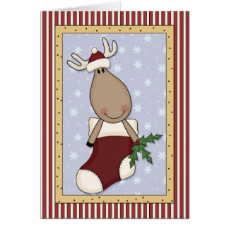 Christmas for Mule or Moose Lovers Card