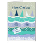 Christmas for Nephew - Snowflakes, Fir Trees Card